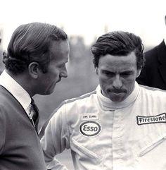 Jim Clark & Lotus founder Colin Chapman
