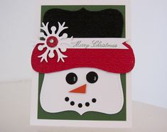 Stampin Up Christmas Cards 2012 | Stampin Up - Top Note Snowman - Post By Demonstrator Brandy Cox