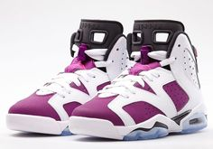 The upcoming Air Jordan VI GS White/Vivid Pink-Bright Grape-Black is set to drop on june 7th. Description from younokicks.ning.com. I searched for this on bing.com/images