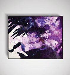 League of Legends Morgana Art Print 11 x 14/ 8 x by DesignersJuice