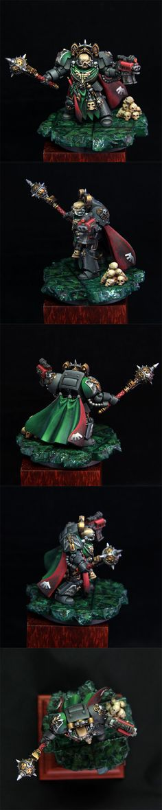 Dark Angels Terminator Chaplain (I am really starting to like that green)