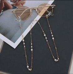 Gold Sunglasses, Sunglasses Accessories, Accesorios Casual, Eyewear, Eyeglasses, Necklaces, Daily Wear, Street Wear, Ladies Fashion