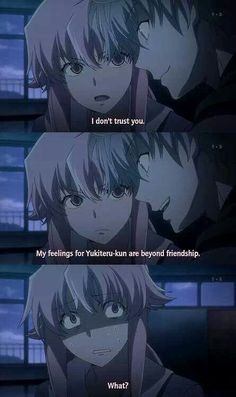 I loved this part XD (Mirai Nikki)