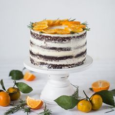 Chocolate cake with citrus curd (in Russian)
