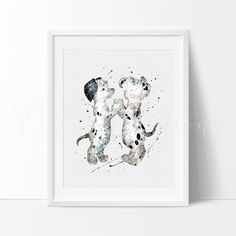 Decorate your nursery with 101 Dalmatians Dog Disney Boy Girl Nursery Art Prints for nursery walls from VividEditions, Wall Art Prints For Kids. With a large selection of baby modern art decor.