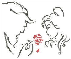 # 270 BOGO FREE! Beauty and the Beast Belle Beast Prince cross stitch pdf Pattern - pdf pattern instant download For your consideration is a beautiful counted cross stitch pattern/chart as shown in the picture. Pattern Details: This pattern is in PDF format and consists of a floss