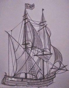 ship, sketch Ship Sketch, Sailing Ships, Sketches, Boat, Drawings, Dinghy, Boats, Doodles, Sketch