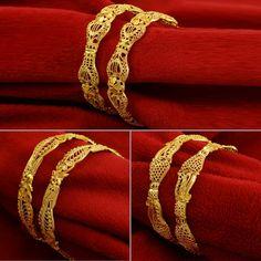 $9.5 - Traditional Goldplated Women Kada Bracelets Bangles Jewelry Size 26, 28 #ebay #Fashion