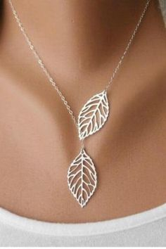 Autumn Leaf Plated Necklace