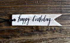 birthday gift tag by rae dunn | etsy