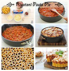 Rigatoni pasta pie by Thinkarete, via Flickr