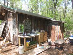 Northeast Georgia Earthship glass bottle brick workshop.