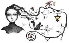 See Amazing Use of Illustrator in Website Design - Dzinepress Portfolio Website Examples, Portfolio Website Design, Artwork Online, Illustrations, My Tumblr, Whimsical Art, Art Tutorials, The Magicians, Diy Art