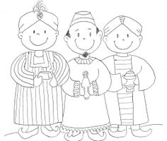 3 Kings Coloring Page Adult Coloring, Coloring Pages, 3 Reyes, Epiphany Crafts, Kings Day, Birth Of Jesus, Bible Crafts, Woodland Party, Bible Stories