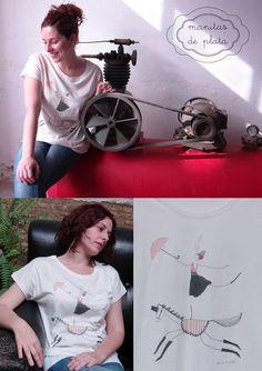 De Tacones y Bolsos: Colección de camisetas by Manitas de Plata
