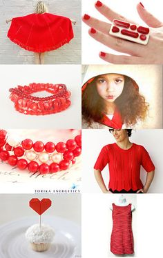 Red is the new black - fall 2014 by Justine on Etsy--Pinned with TreasuryPin.com