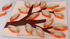 Automne – Bricolage simple et léger: branche et feuilles en rouleau de carton