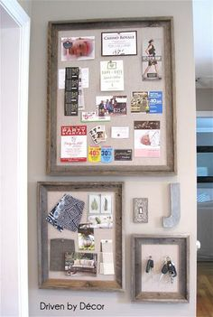 DIY Pinboard : DIY Restoration Hardware Bulletin Board