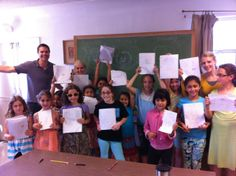 Author-Illustrator Ron Noble, Letter Beasties drawing day at Kids Express Summer Camp!