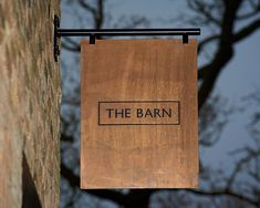 The Barn Restaurant Branding - Grits + GridsGrits + Grids The Barn Restaurant, Restaurant Signage, Shop Signage, Wayfinding Signage, Signage Design, Cafe Design, Cafe Signage, Outdoor Signage, Restaurant Ideas