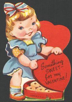 "Vintage Valentine Day's Card ""Heart Shape Box of Glazed Donuts"" 1950's Unused | eBay"