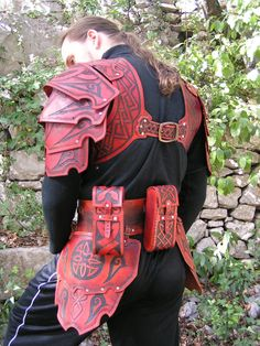 Pinterest just got so much cooler!  Celtic Hard Leather Armour by ~Bear-Crafter on deviantART