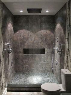 Bathroom Shower Tile Tub Wet Rooms 35 Ideas For 2019 Bathroom Spa, Small Bathroom, Bathroom Ideas, Rain Shower Bathroom, Spa Shower, Bathroom Lighting, Shower Lighting, Bathroom Modern, Budget Bathroom