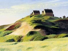 Corn Hill, by Edward Hopper. I love his use of light. Love this image. I wish I could live in it ;)