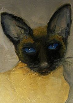 siamese. definitely painting my mom something like this for a gift sometime