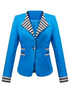 Lapel Single Button Plaid Blazer Only $20.95 USD More info...