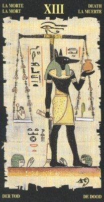 Egyptian Tarots. Аркан XIII Смерть.