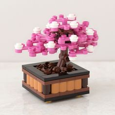 Lego Bonsai Tree: Cherry Blossom by Chris McVeigh