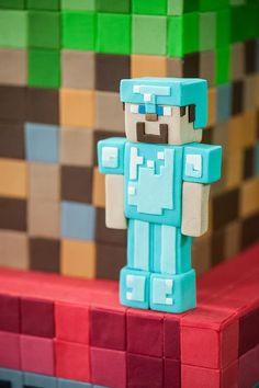Confira ideias criativas para festa Minecraft! O game adorado pelas crianças como decoração de festa de aniversário, basta inspirar-se nas fotos!