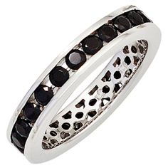 Damen Ring 925 Sterling Silber rhodiniert Zirkonia schwarz Silberring Gr.58 http://www.ebay.de/itm/Damen-Ring-925-Sterling-Silber-rhodiniert-Zirkonia-schwarz-Silberring-Gr-58-/152545218301?ssPageName=STRK:MESE:IT