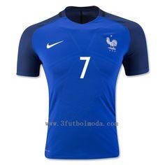Francia 2016 primera equipacion azul camiseta de futbol,talla S,M,L,XL,mas baratos en futbolmoda6.com,sin aduana problems!