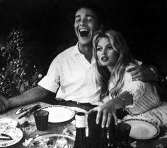Brigitte Bardot (June & Jacques Charrier on their wedding day