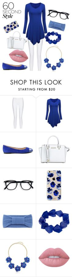 """""""blue glory"""" by chaeylo ❤ liked on Polyvore featuring 10 Crosby Derek Lam, WithChic, ANNA BAIGUERA, MICHAEL Michael Kors, Sonix, Portolano, John Lewis, BERRICLE and Lime Crime"""