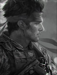 """Young Solid Snake"" - MGO III Concept Art by Jordan Lamarre-Wan"