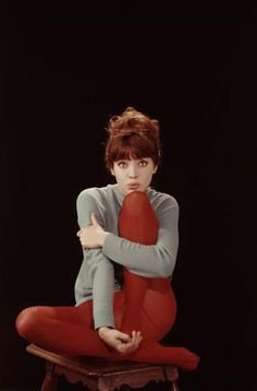 Anna Karina.  Super Beauty. Red Tights ♥