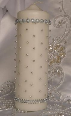 beaded candle