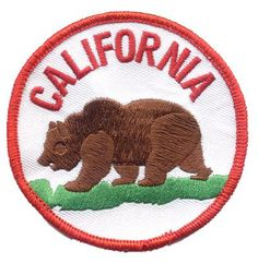 "California Bear Patch 3"" Collectible Iron-On High Quality Stitching"