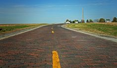 Original Brick Rd. in Auburn, IL., This beautiful 1.4 mile long piece of restored hand-laid brick road is a segment of 66 done in 1931 and placed over a concrete roadbed.  Rou...