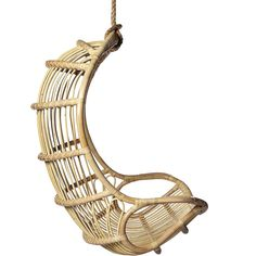 Hanging Rattan Chair ❤ liked on Polyvore featuring home, outdoors, patio furniture and hammocks & swings