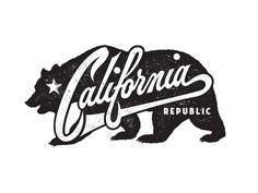 Californie California by Neil Tasker Dribbble California Bear Tattoos, California Logo, California Republic, Grid Design, Logo Design, Logo Animal, Voyage Usa, Chicano Art, Creative Lettering