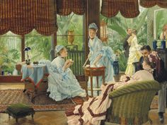 James Jacques Joseph Tissot, In the Conservatory (Rivals)