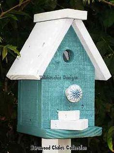 Rustic-Primitive-Birdhouse-Nautical-Beach-Birdhouse-Chalet-Birdhouse
