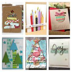 19 Tarjetas navideñas con cinta decorada   Decorar tu casa es facilisimo.com