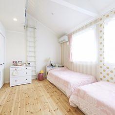 nobuさんの、ベッド周り,IKEA,子供部屋女の子,ドットストライプ,のお部屋写真