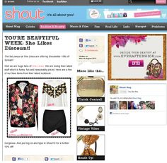 """Shout online coverage of our """"Rose"""" bomber jacket, """"Alessia"""" blouse and """"Jalisa"""" skorts."""