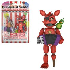 Funko Five Nights at Freddy's Pizza Simulator Rockstar Foxy 5 inch Figure - 32141 for sale online Fnaf Action Figures, Drakes Bday, Freddy Toys, Pokemon Terrarium, Toy Story Buzz Lightyear, Circus Baby, Mermaid Blanket, Easter Crafts For Kids, Five Nights At Freddy's